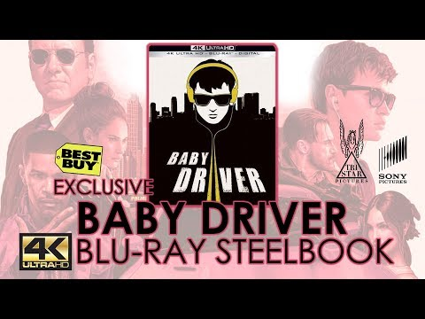 Baby Driver (2017) 4K Ultra HD Blu-ray Steelbook Unboxing | Best Buy Exclusive | Edgar Wright