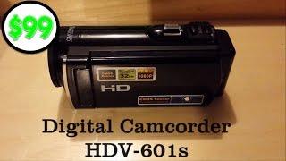 Video $99 HD 1080p Digital Camcorder HDV-601s (Action Camera) MP3, 3GP, MP4, WEBM, AVI, FLV Juli 2018