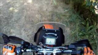 9. KTM 690 Enduro R Supermoto wheels Meadowlake Rd loop 9-24-11