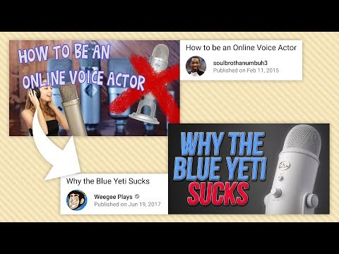 "Clickbait Thievery and You - A Response to ""Why the Blue Yeti Sucks"""