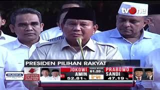 Video Konferensi Pers Prabowo Subianto Tanggapi Hasil Hitung Cepat Pilpres 2019 MP3, 3GP, MP4, WEBM, AVI, FLV April 2019