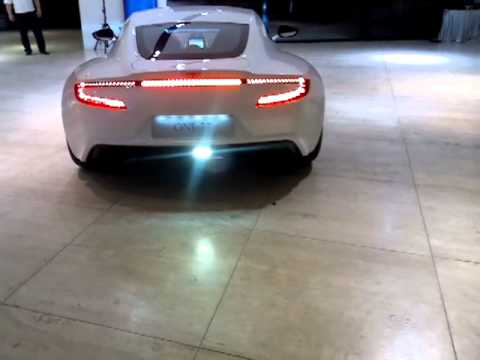 Aston Martin  ASTON MARTIN ONE-77 1.4 million pound super car leaving JCT600 - Check out that exhaust note!