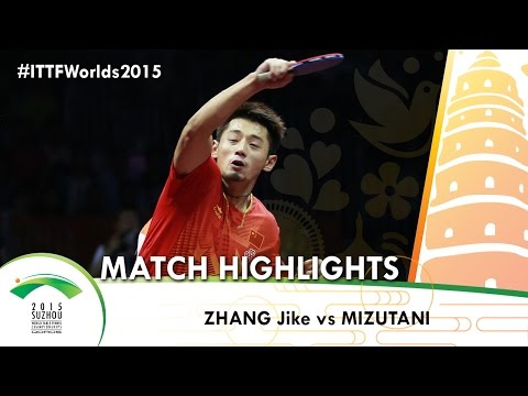 WTTC 2015 Highlights: ZHANG Jike vs MIZUTANI Jun (1/4)