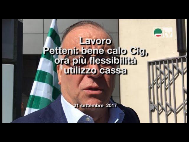 Lavoro Petteni: bene calo Cig, ora più flessibilità utilizzo cassa