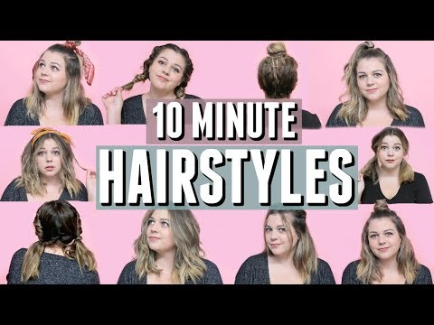 Easy hairstyles - 10 (mostly) Heatless Hairstyles You Can Do in 10 Minutes or Less!
