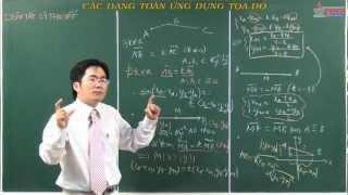 Vectơ - Các dạng toán ứng dụng tọa độ