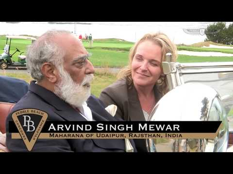 Sandra Button talks with Arvind Singh Mewar of Udaipur