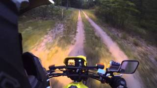 3. 2007 Suzuki DR200 Evening Trail Riding GoPro 3 Hero Black 1080P HD 60FPS