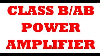 Operation of class B /AB Power Amplifier using MULTI SIM SOFTWARE Share, Support, Subscribe!!! Subscribe:...
