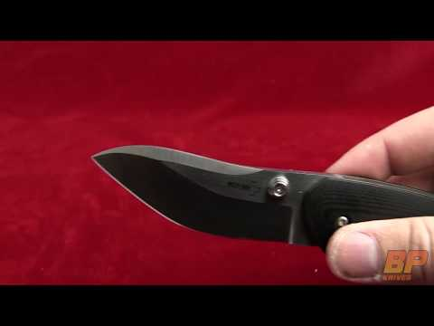 "Boker 01BO620 Anso Whale Knife Black G10 (3.125"" Satin Plain)"