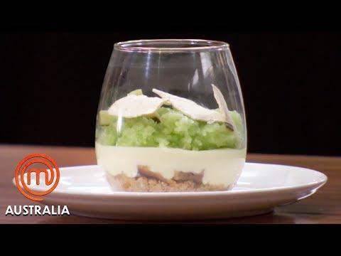 Cucumber Granita With Ouzo Cream | MasterChef Australia | MasterChef World