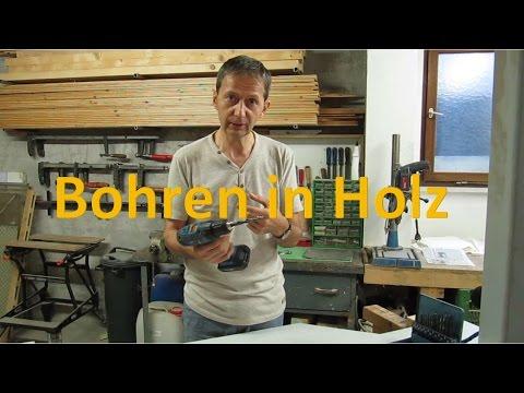 Bohren in Holz - Holzbohrer - Bohrerarten - Worauf achten beim Bohren? Bohren mit Holzbohrer