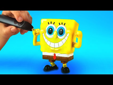 HOW TO MAKE ANYTHING WITH 3D PEN AND HOT GLUE    CUTE CRAFTS