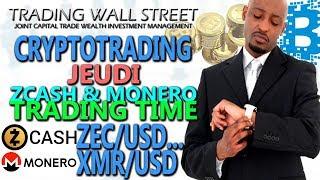 Zcash et Monero Trading (jeudi 4 janvier 2017) #cryptotrading