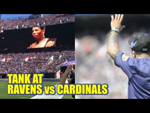 Gervonta Davis Special Guest at Baltimore Ravens vs Arizona Cardinals Game