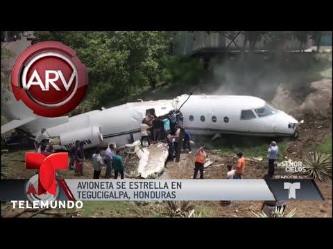 Dramáticas imágenes de accidente aéreo en Honduras | Al Rojo Vivo | Telemundo