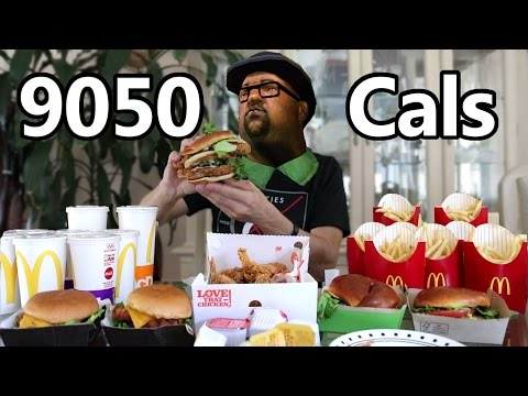 Matt Stonie Eats Big Smoke  s 9050 Calorie Drive Thru Order From Grand Theft Auto San