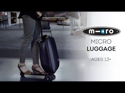 Erittäin kätevä ja käytännöllinen kickboardin ja matkalaukun yhdistelmä!