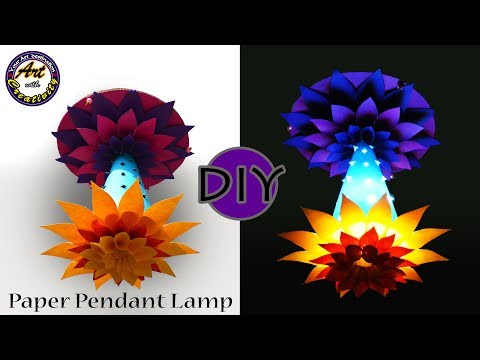 DIY Paper Pendant Lamp | Lamp Shades | Lamp | Hanging Light | Art With Creativity 203