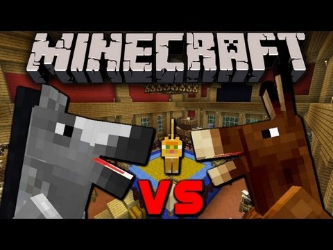 Minecraft 1.6: Horse Fighting!