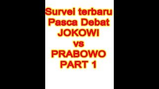 Video SURVEI TERBARU PASCA DEBAT, Jokowi vs Prabowo Part 1 MP3, 3GP, MP4, WEBM, AVI, FLV Januari 2019