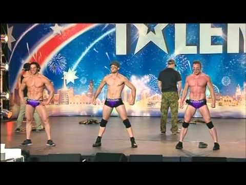 HUNKMANIA -  Male Strippers - Australia's Got Talent 2012 audition 6 [FULL] (видео)