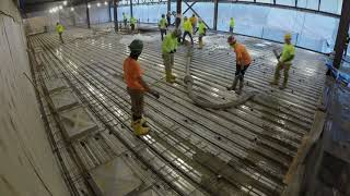 Time lapse of concrete pour for the One World Café at UB