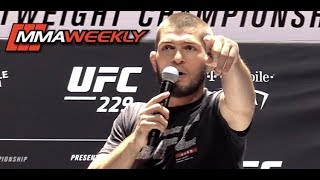 Video Khabib Nurmagomedov Harasses Conor McGregor's Irish Fans at UFC 229 Workouts MP3, 3GP, MP4, WEBM, AVI, FLV Oktober 2018