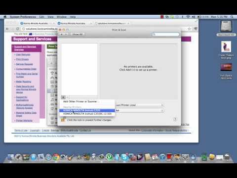 Install Konica Minolta bizhub on your Mac