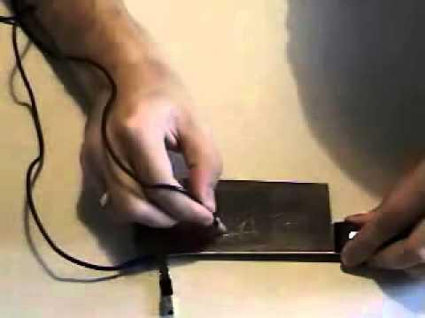 Как сделать гравюру в домашних условиях видео