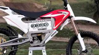 9. 2010 Zero MX Electric Motorcycle on a Track