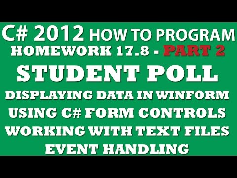 C# Programming Challenge 17.8: Student Poll Part 2 (C# Winform, C# Form Controls, C# Working with Text Files)