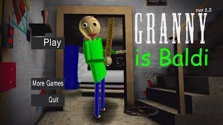 WHAT IF GRANNY WAS BALDI? (BRANNY?) | Granny (Horror Game)