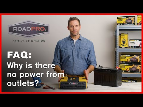 Power Inverter FAQ #7 - Why is there no power from the plugs?