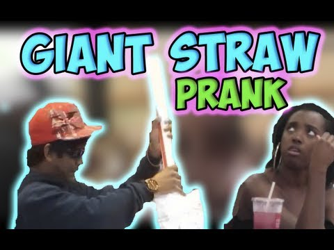 Giant Straw Prank