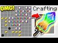 HOW TO CRAFT A $100,000 RAINBOW SWORD! *OVERPOWERED* (Minecraft 113 Crafting Recipe)