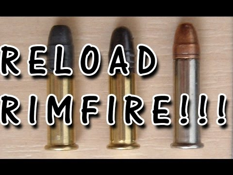 How to reload .22lr and re-prime rimfire bullets! step by step guide DIY