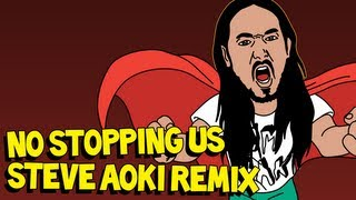 """""""No Stopping Us (Steve Aoki Remix)"""" OFFICIAL AUDIO - Dirtyphonics ft. Foreign Beggars"""