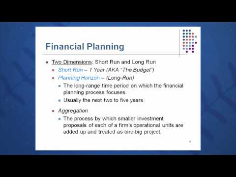 Session 04: Objective 1 – Financial Planning