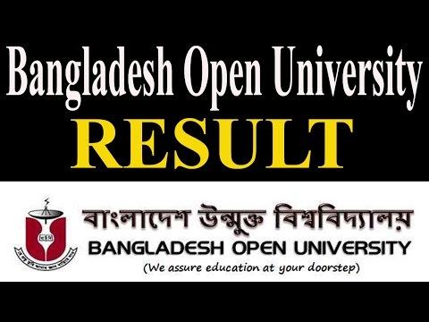 Bangladesh Open University Result | Final Result - Year & Semester Wise Result