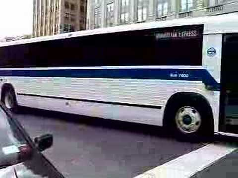 TC40102A - This is a video of a MCI 1988 bus departing full throttle.