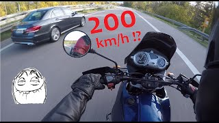 1. TOP SPEED BMW F650 GS | German Autobahn