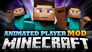Minecraft Mod | ANIMATED PLAYER MOD - Bendy Joints, Player Animations, and More! - Mod Showcase