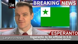 This is a quick video to announce some very important breaking news: Esperanto is going to be adopted as an official language of the European Union! This is ...