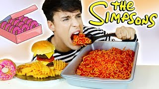 Video i only ate THE SIMPSONS FOODS for 24 hours!!! MP3, 3GP, MP4, WEBM, AVI, FLV Juli 2018