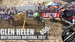 Watch the 250s from Glen Helen https://youtu.be/cWauw5bX-6UHighlight video from the 2017 Glen Helen pro motocross national in Southern California.Subscribe to the channel http://youtube.com/mxwebcamPlease thumbs up and share!