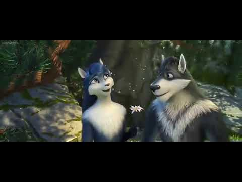 Sheep and wolves bianca and grey in love