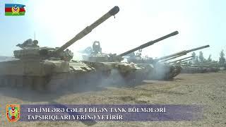 Tank bölmələri təyin edilmiş məntəqələrə çıxarılıb- VİDEO