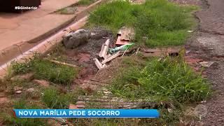 Marília: asfalto precário
