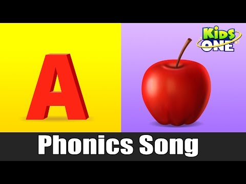 A For Apple | Phonics Song with Two Words | Learning ABC Alphabet Songs For Kids